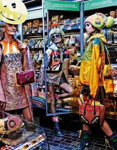 "Duchess Dior: ""My Market Day"" Lindsey Wixson and Hanne Gaby Odiele by Giampaolo Sgura for Vogue Japan October 2014"