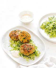 For a quick and easy midweek meal try these delicious tuna patties with simple brussels slaw.