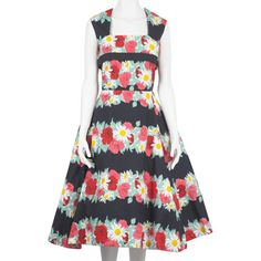 gorg frock dapted from a 1950s fabric designed for Horrockses Fashions, one of the most respected ready-to-wear labels of the late 1940s and 1950s