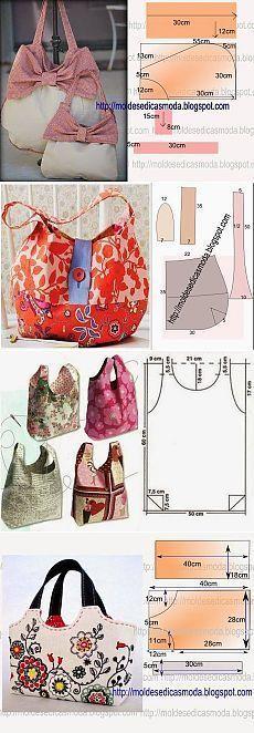 pinterest.ru Handbag Patterns, Bag Patterns To Sew, Diy Sac, Sewing Circles, Make Your Own Clothes, Diy Handbag, Craft Bags, Handmade Handbags, Crochet Handbags