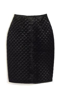 Josh Goot Quilted Velvet Pencil Skirt
