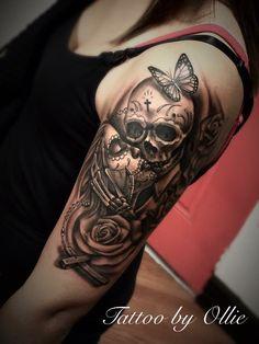Skull tattoos for men and women . - Skull tattoos for men and . - Skull tattoos for men and women … – Skull tattoos for men and women … – - Skull Sleeve Tattoos, Sugar Skull Tattoos, Best Sleeve Tattoos, Sleeve Tattoos For Women, Tattoo Sleeve Designs, Tattoo Designs For Women, Leg Tattoos, Arm Band Tattoo, Tattoos For Guys