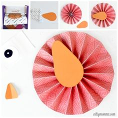 How to make a Paper Bird Rosette Craft