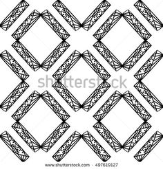 Seamless pattern with ornamental rhombus. Endless background for web pages, printed fabrics, gift and packaging paper.