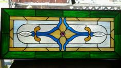 Vintage Stained Glass Window | eBay