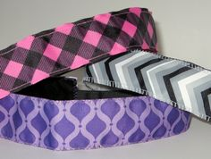 No Slip Headband, Wide Headband, Purple Quatrefoil, Yoga Headband, Jogger, Marathon Headband, Velvet Headband, Fashion Headband