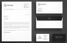 Simple Minimal Corporate Stationery Invoice Design, Letterhead Design, Branding Design, Psd Templates, Brochure Template, Envelope Design, Stationery Set, Minimal, Graphic Design