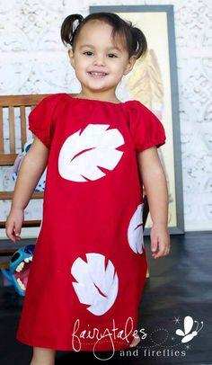Lilo Peasant Dress  Lilo and Stitch Dress  by fairytalesfireflies, $44.95