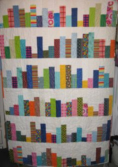 Colorful Handmade Throw Quilt by SarahLeeQuilts on Etsy, $50.00