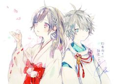 Anime Love Couple, I Love Anime, Cute Anime Couples, Vocaloid, Chibi, Anime Siblings, Natsume Yuujinchou, Anime Kawaii, Character Art