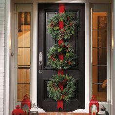 Christmas wreath door