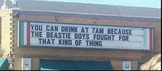 The Beastie Boys fought for party