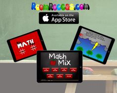 Educational apps from RoomRecess.com: Main Idea, Tic Math Toe, and Math Mix
