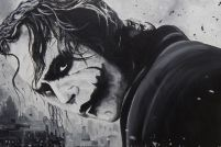 Mroczny Rycerz - Joker Heath Ledger - plakat