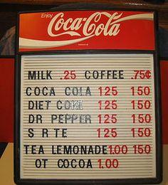 Coca Cola/ Coke, Table Top Display/ Menu Board, Concession Stand, Bar, Man  Cave