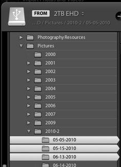 organize photos in lightroom