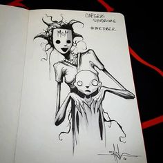 Inktober is an annual drawing challenge, but artist Shawn Coss has decided to focus his work on spreading mental health awareness through art. Creepy Drawings, Dark Art Drawings, Creepy Art, Drawing Sketches, Unique Drawings, Art And Illustration, Dark Art Illustrations, Arte Horror, Horror Art