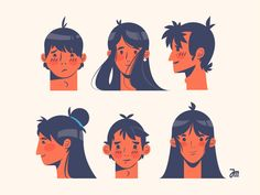 Face Drawing Heads up women boy girl man head hair face person people character design heads - View on Dribbble Mouse Illustration, People Illustration, Character Illustration, Graphic Design Illustration, Art Illustrations, Human Figure Drawing, Guy Drawing, Drawing Faces, Drawing Heads