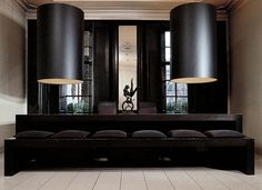 Huge lights and settee - Anouska Hempel London , England