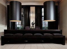 Huge lights and settee - Anouska Hempel London , England