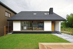 This small Japanese bungalow, designed Space Architecture, is elegantly minimal and showcases strong Japanese minimalist interior design ideas. Weekend House, Box Houses, Space Architecture, Japanese House, Farmhouse Plans, Inspired Homes, Exterior Design, Luxury Homes, My House
