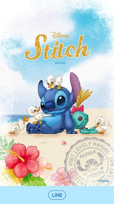 Image about stitch in 🦄 Line : Disney, Sanrio and more 🦄 by Un Petit Dragon Rose (WHI) Cute Wallpaper Backgrounds, Wallpaper Iphone Cute, Cute Wallpapers, Disney Phone Wallpaper, Cartoon Wallpaper, Cute Disney Drawings, Cute Drawings, Scrump Lilo And Stitch, Disney Stitch