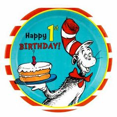 Dr. Seuss first birthday party stuff! I can't wait :)