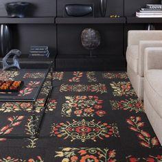 FLORal carpet tiles.