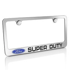 This one stylish license frame features engraved OEM style logo and nameplate. Made from high quality chrome plating cast brass. The best metal for frame.