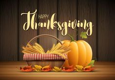 Thanksgiving day poster with wooden background vector