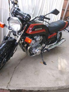 1981 Honda CB750F #motorcycle #motor #cycle #motortrend Honda Bikes, Honda Cb750, Van Nuys, Sport Bikes, Custom Bikes, Cool Suits, Motorcycle, Vehicles, Ebay