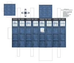 Doctor Who Tardis Papercraft by Jailboticus on deviantART