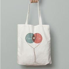 Fiyat:19,90 tl Kişiye Özel Balon Kalp Tasarımlı Bez Çanta