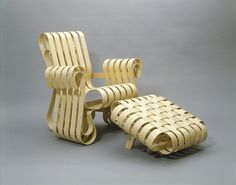 Frank Gehry, Power Play Armchair, 1991, Museum of Arts and Design