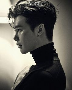 "Lee Jong Suk appears in the September issue of Vogue and talks about his movie ""V."" AND his upcoming drama with Suzy ""While You Were Sleeping"". These pictures aren'… Lee Jong Suk Hot, Lee Jung Suk, W Two Worlds Wallpaper, Lee Jong Suk Wallpaper, Handsome Korean Actors, Lee Young, Kdrama Actors, Korean Celebrities, Korean Men"