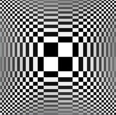 Optisch gezichtsbedrog, zeer kunstige geheimen, magie en hypnose. De afbeeldingen lijken te bewegen maar het is een truc.