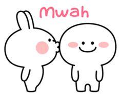 "Spoiled Rabbit ""Simple Talk"" – LINE Stickers | LINE STORE Cute Cartoon Images, Cute Disney Pictures, Cute Love Pictures, Cute Love Cartoons, Cute Love Gif, Cute Cartoon Wallpapers, Kawaii Doodles, Cute Doodles, Cute Little Drawings"