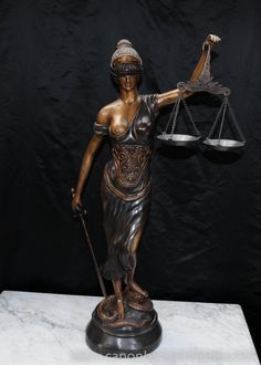 "Hello, It's interesting how the Greek goddess ""Themis"" has a sword in one hand & the divine scales of justice in the other. Speaking of scales of justice I'm a Libran & can relate to divine justice. Regards Peter !"