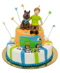 Tort-Scooby-Doo Little Poney, Marzipan, Scooby Doo, Mickey Mouse, Birthday Cake, Desserts, Food, Tailgate Desserts, Deserts