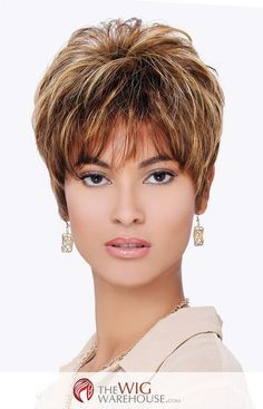 Offered in a number of great natural-looking shades, including those with vibrant highlights, the ultra-short pixie style Cheri wig is as adorable as it is versatile. Style with your favorite styling