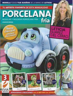 Cold Porcelain Magazine 3 by Leticia Suarez del Cerro (Spanish) Porcelana… Cold Porcelain Tutorial, Paper Train, Clay Fairy House, Magazine Crafts, Clay Fairies, Price Sticker, Clay Figurine, Fondant Toppers, Pasta Flexible