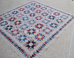 check out the flying geese boarder on this #quilt