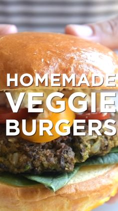 The Best Veggie Burger (Better Than Store-bought) How to make homemade veggie burgers that are hearty, flavorful and full of vegetables. These delicious vegetable-packed burgers are high in fiber grams) and come in at just over 200 calories for one patty. Homemade Veggie Burgers, Best Veggie Burger, Recipe For Veggie Burgers, Vegan Burger Recipe Easy, Vegetarian Burger Patties, Veggie Patties, Vegetable Recipes, Vegetarian Recipes, Healthy Recipes
