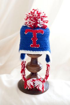 Special Order Texas Rangers Hat by HappyBubblesCouture on Etsy