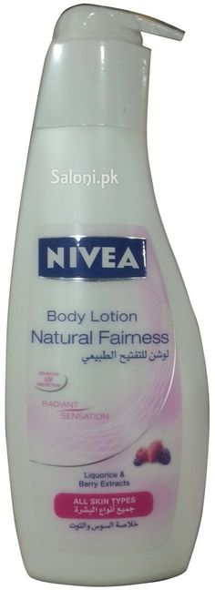 NIVEA NATURAL FAIRNESS BODY LOTION Saloni™ Health