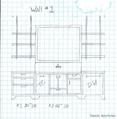 kitchen sketch sink wall