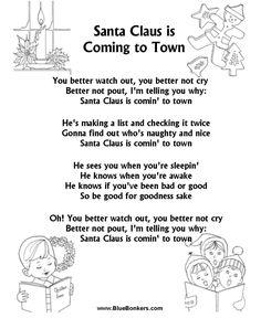 Christmas sheet music with words | Bible Printables - Christmas Songs and Christmas Carol Lyrics - SANTA ...