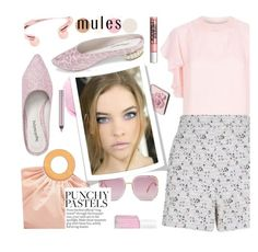 """Slip 'Em On: Mules & spring lips"" by joliedy ❤ liked on Polyvore featuring Trish McEvoy, House of Holland, Giambattista Valli, Urban Decay, Lipstick Queen and Essie"