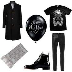 """New Year with leather"" by clothes-cm on Polyvore"