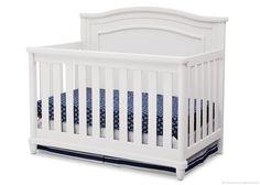 Simmons Kids Belmont 4-in-1 Crib, White